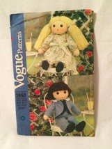 """Vogue 2857 523 25"""" Rag Stuffed Doll Boy and Girl Clothes Pattern  - Uncut - $12.19"""
