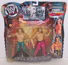 "NEW! 2002 WMW Rock n' Roll Rivals ""Edge"" vs ""Jericho"" Action Figure Set [1471} image 1"