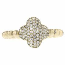 0.44ct Round Cut Diamonds 14k Yellow Gold Midi Ring One Size - £404.33 GBP
