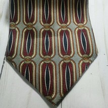 Brothers Handmade Mens Gray and Burgundy Tie  - $14.84