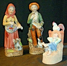 Country Living Figurines - Man, Woman and Child AA-191974 Vintage image 2