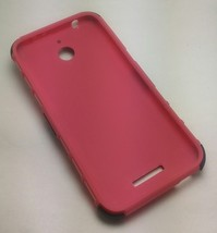 Pink/Black HTC Desire 510 512 Hard Dual Hybrid TPU Case Cover - $2.47