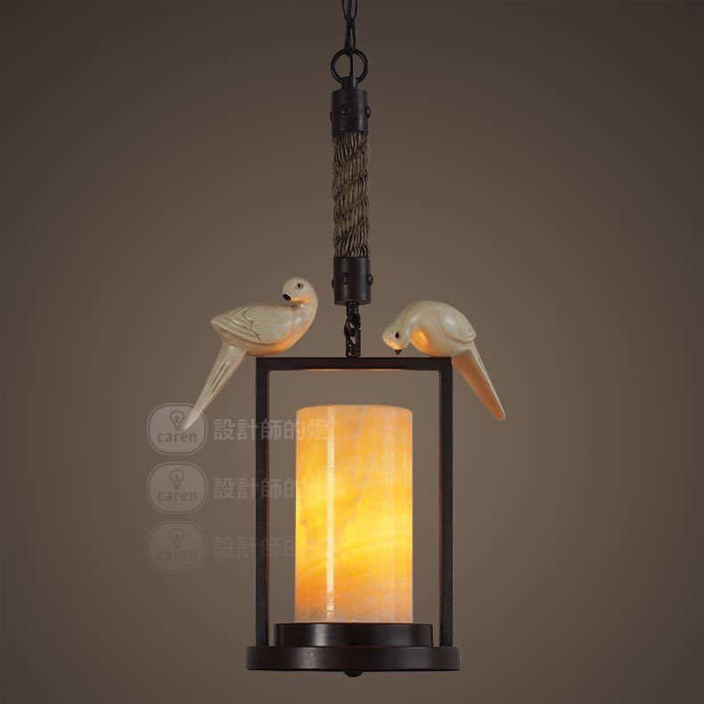 Primary image for Vintage Bird Marble Pendant Light Ceiling Lamp Home Cafe Decor Lighting Fixture