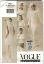 Vogue 9183 Lola Bridal Veils and Hat Pattern 5 Styles Blusher Bow Pouffy... - $12.73