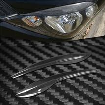 Carbon Fiber Car Headlight Cover Eyebrows Eyelid Trim For Honda Fit 2009... - $48.50