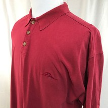Tommy Bahama Short Sleeve Red Marlin Cotton Polo Shirt XL Excellent - $18.46