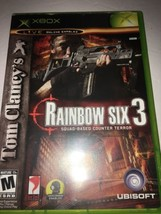 Tom Clancy's Rainbow Six 3 (Microsoft Xbox, 2003)-TESTED-RARE -SHIPS IN ... - $11.64