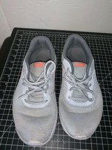 Nike 818384-002 Girl's Tanjun Gray White Orange Swoosh Sneaker Size 7Y - $18.69