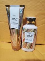 (2) New Bath Body Works Twinkling Nights Lotion & Body Cream Set Winter Sexy - $20.79
