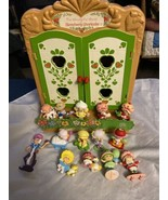 Strawberry Shortcake Miniatures and Cabinet Lot Of PVC 14  Minis And Cab... - $69.99