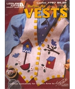 Button-Up Vests Leisure Arts #1727 Fabric Craft - $3.50
