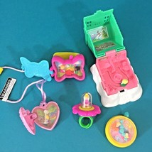 Polly Pocket Happy Meal Toys 5 McDonalds Premiums Ring Necklace Watch Ho... - $19.95