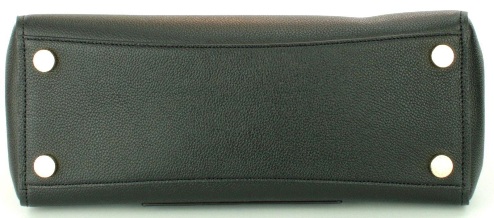 Michael Kors Hayes Black Leather Shoulder Messenger Bag large Handbag