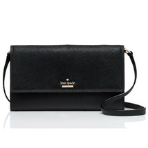 Kate Spade Cameron Street Stormie Crosshatch Leather Trifold Crossbody C... - $106.18 CAD
