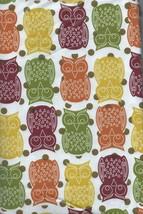 "Fall Autumn Thanksgiving Owls Vinyl Tablecloth Flannel Back 52"" x 70"" Oblong - $12.99"