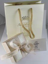 White Gold Chain 750 18k Mini Basket Gloss Long 40 45 50 cm 1 mm thick image 4
