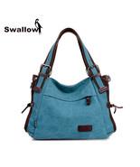 Crossbody Bags Casual Blue Large Capacity Handbags - $63.99