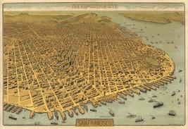 San Francisco 1912 Exposition Map Wall Art Poster Print Vintage History Decor - $12.38