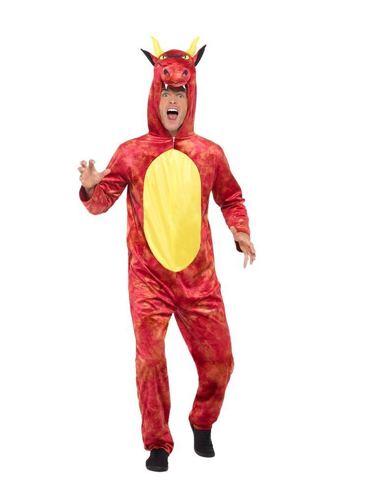 Deluxe Dragon Costume,Party Animals Fancy Dress, Large
