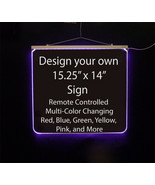 """Personalized LED Sign-Design your own Sign,  15.25"""" x 14"""" Multi-Color Ch... - $160.00"""