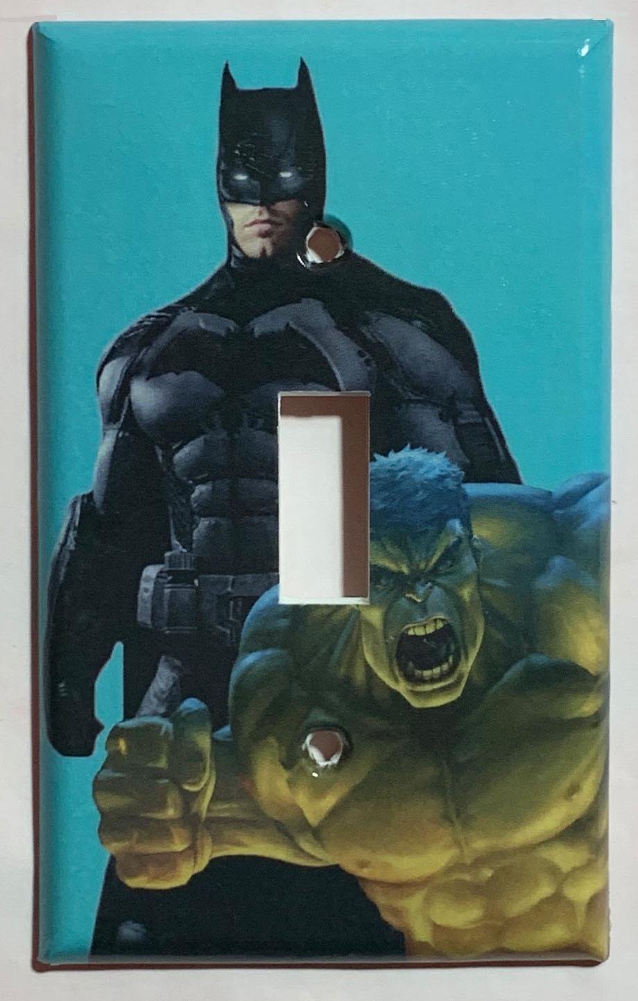 Batman and hulk blue single
