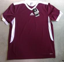 New Adidas Clima Lite TABELA II Maroon Design Soccer Jersey #E19933 Sz L - $15.00