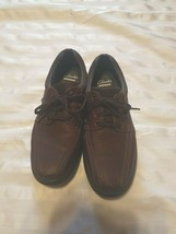 Clarks Mens Cotrell Walk Lace Up Ortholite Cushion Brown Dress Shoes Siz... - $37.39