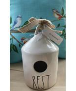 "Rae Dunn Artisan Collection LL ""REST"" Round Birdhouse Magenta NEW Birds ... - $39.99"