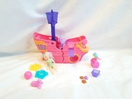 retro Lot Of Polly Pocket  Pirate Ship Doll Clothing & Accessories - $39.59