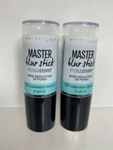(2) Maybelline 100 UNIVERSAL Master Blur Stick Pore Minimizing Tinted Pr... - $8.90