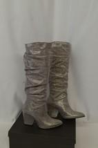 New Stuart Weitzman Sz 4.5M Metallic Shimmer Iridescent Pointed Toe Slouch Boots - $193.54