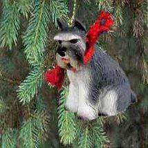 1 X Schnauzer Miniature Dog Ornament - Gray - $14.69