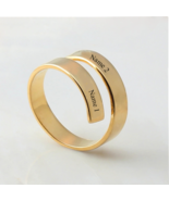 Personalized Rings - Engraved Name - Stainless Steel - Gold Plated - $19.99+