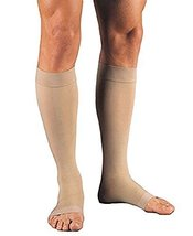 JOBST Relief Knee High 15-20 mmHg Compression Sock, Open Toe, Beige, X-Large - $30.25