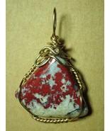 Pigeon Blood Jasper Pendant Wire Wrapped 14k/20 Gold Filled - Jemel - $42.00