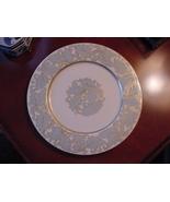 Castleton USA C51 Powder Blue and Gold Leafy Floral Dinner Plates, 8 Vin... - $120.00