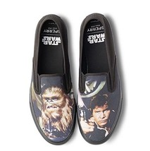 Sperry Mens Cloud Slip On Han & Chewie Sneaker BLK sz 9 New in Box - $48.37