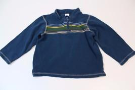 K4578 Boys GYMBOREE blue 100% cotton half-zip THERMAL TOP, stripes, size 5T - $3.00