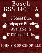 Bosch GSS 140-1 A - 1/4 Sheet - 17 Grits - No-Slip - 5 Sandpaper Bulk Bundles - $7.14