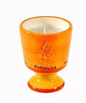 Judaica Memorial Havdalah Decorative Ceramic Candle Holder Shema Israel w Candle image 1