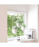 Umbra Triflora Hanging Planters For Window, Indoor Herb Garden, White/Wh... - $60.00