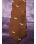 American Eagle Pattern on Brown Necktie US Savings Bond Volunteers - $24.75