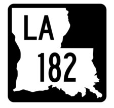 Louisiana State Highway 182 Sticker Decal R5892 Highway Route Sign - $1.45+