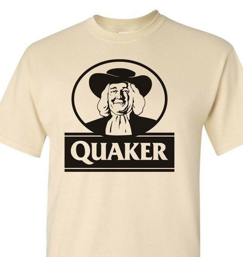 Quaker Oats T-shirt retro vintage 80s brands 100% cotton graphic men tee