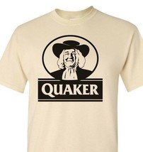 Quaker Oats T-shirt retro vintage 80s brands 100% cotton graphic men tee image 1