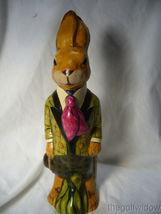 Vaillancourt Folk Art Wonderful Derby Rabbit for Easter no. 21002 image 4