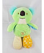 "Nat & Jules Koala Bear Rattle Plush 10"" Green Demdaco Stuffed Animal toy - $9.95"