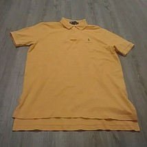 Ralph Lauren Polo Mens L with green Polo Horse Short Sleeve Orange - $9.90