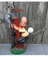 Funny Man Chased By Dog on Fire Hydrant Vintage Novelty Bar Set Japan - $45.00