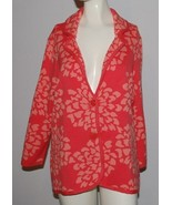 Isaac Mizrahi Live Sweater Cardigan Jacket Womens Large Floral 3/4 Sleev... - $24.70
